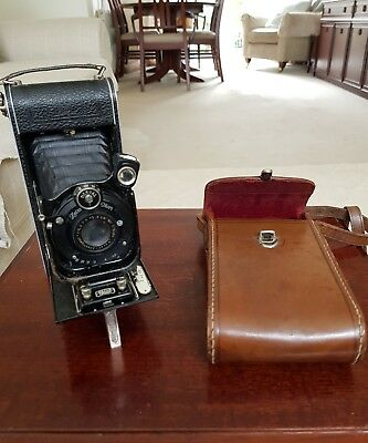Vintage Zeiss Icon Folding Camera With Leather Case