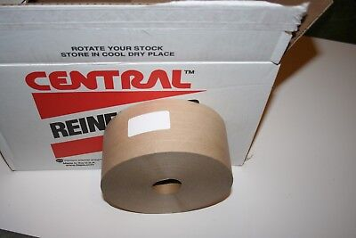1 Rolls Central 72 MM x 500' Reinforced Gummed Kraft Paper Tape  Water Activated