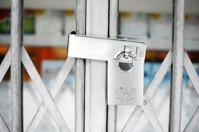 Heavy Duty Hasp & Staple Gate Guard Wth  Ifam Max50 High Security Padlock.