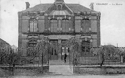Cpa Chamoy - La Mairie ( Aube Troyes )