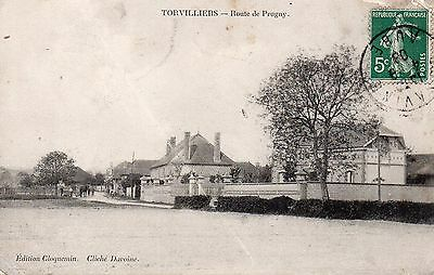 Cpa Torvilliers - Route De Prugny ( Aube )