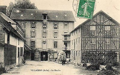 Cpa Villacerf - Le Moulin ( Aube )