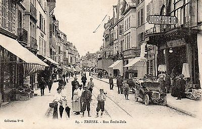 Cpa Troyes - Rue Emile Zola ( Aube )