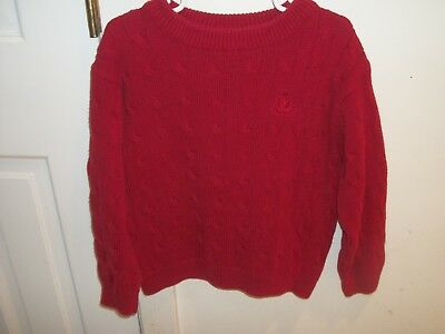 Izod - Boys Size 4T 4 - Red Cable Stitch Crew Neck Sweater
