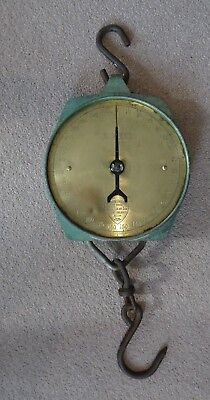 Vintage Antique Salter 300lb Trade Spring Balance Scales Brass Face No235