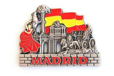 Unique Style Metal Fridge Magnet Home Decor Holiday Souvenir Gift from Madrid