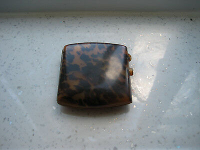 Antique Faux Tortoiseshell Case With Unusual Clip