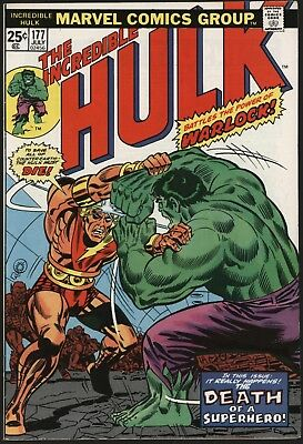 Incredible Hulk #177  Vs Warlock! Counter-Earth Saga. Original Owner 8.0 Copy