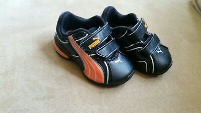 Orange and Black Infant Puma 4c shoes