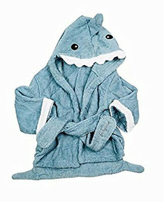 Blue Shark Baby Boy Bathing Gown Thick Terry Cloth Hooded Towel Robe