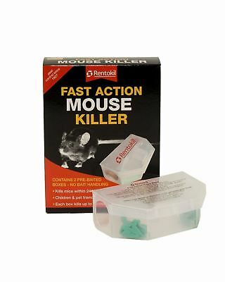 2 x pack of 2 Rentokil-RKLPSF135-Fast-Action-Mouse-Killer- kill up to 100 mice