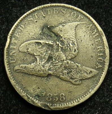 1858 SL Small Letters Flying Eagle Cent Penny (B05)