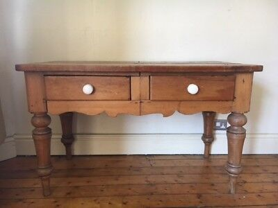 Victorian pine side/hall table