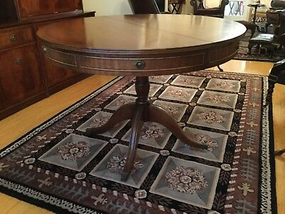 1969 Bevan-Funnell Reproduction Extending solid mahogany drum dining table