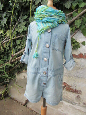 ♥ NEXT ♥ weiter, leichter Jeans Overall Shorty ♥ in Gr.4y (104) ♥ England ♥
