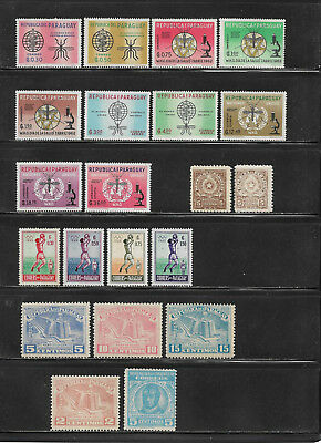Paraguay, **/postfrisches Lot ca. 1946 - 1965, 3 Scans !