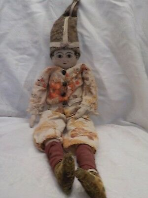 Old Antique Folk Art Doll Hand Painted Face Great Look