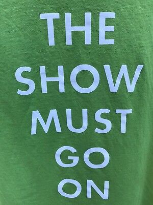 "Celine Dion ""THE SHOW MUST GO ON"" - Green - Crew Only T Shirt - XL"