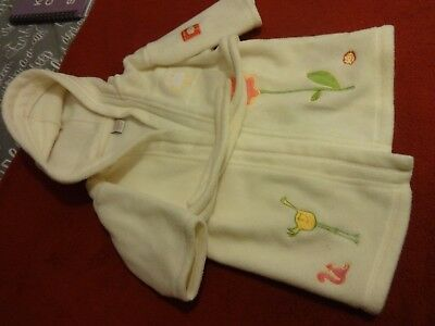 Lovely Cream Next Baby Fleecy Dressing Gown Age - Months