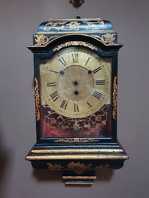 Very rare antique French Swiss bracket clock  1720 from a verge clock CASE ONLY!