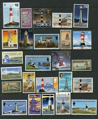 25 All different Lighthouses on stamps Thematics Crafts - As shown (BG147)