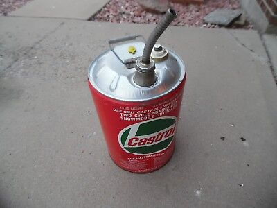 Vintage Castrol Gas Can 6.5 Gallon Nice COOL