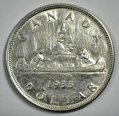 1935 Canada One Dollar -  Better Date Coin - KM# 30
