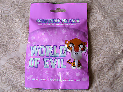 Disney * WORLD OF EVIL - VILLAINS * New 5-pin Collectible Mystery Pin Pack
