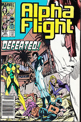 Alpha Flight  #26 1985 Marvel -Defeated- Byrne/ Shooter...fn
