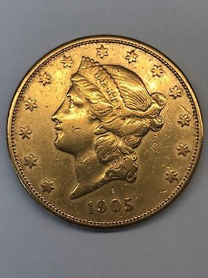 1905-S LIBERTY $20 GOLD DOUBLE EAGLE Better Date!