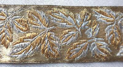 96 cms.antique gold metallic border from France