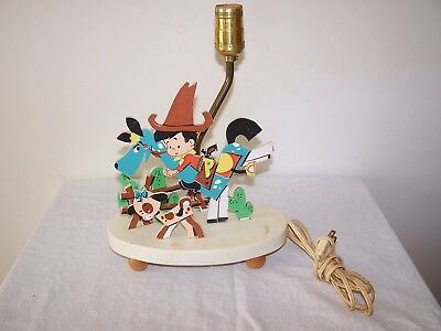 Vintage Childs 1960's Cowboy Lamp - Dolly Toy Company