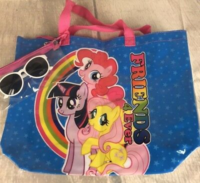 My Little Pony Purse Tote Bag With Sunglasses New
