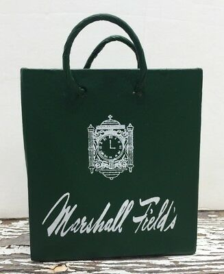 Marshall Fields Department Store Green Shopping Bag Ornament