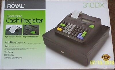 New in Box Royal 310DX Cash Register - 2000 PLUs - 10 Clerks - 24 Departments