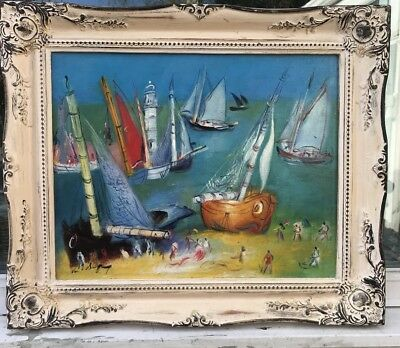 1950/60s FRENCH IMPRESSIONIST OIL PAINTING Signed ??