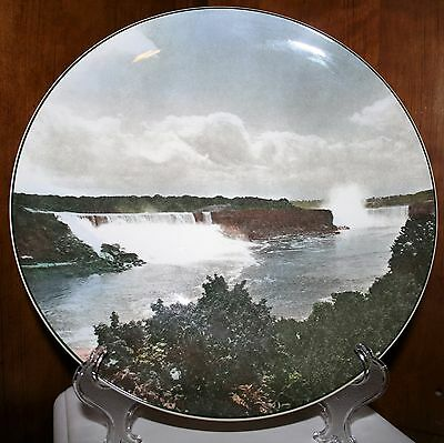 "Royal Doulton English Collector Picture Plate Niagra Falls 10.5"" England 1960's"
