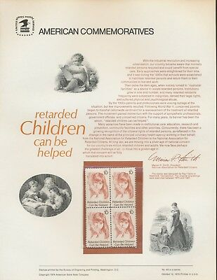 USA 1549 RETARDED CHILDREN
