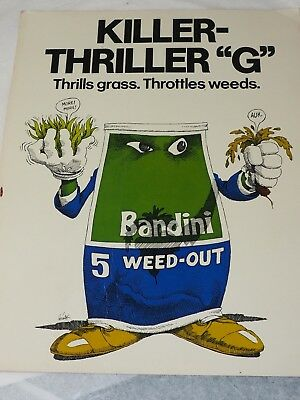 """KILLER THRILLER""""G"""" Thrills Grass.Throttles Weeds BANDINI 5 WEED OUT POSTER"""