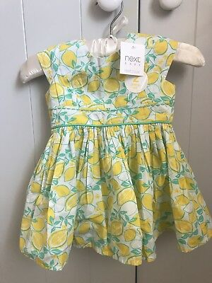 BNWT - Next - Baby Girl Dress and Knickers - 6-9 months