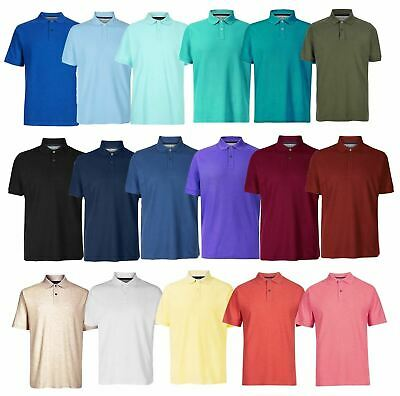 Ex Marks and Spencer Mens Cotton Pique Polo Shirt NEW Sizes S - 3XL