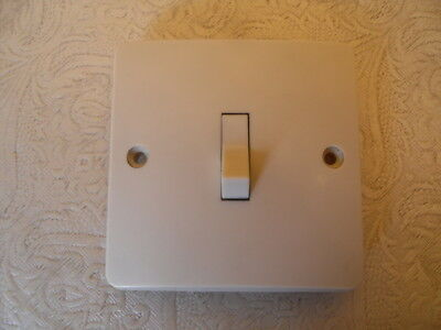 Vintage MK 6295 Single 1 Gang 1 Way Light Switch Ivory Colour - Rocker Switch