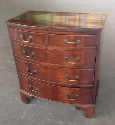 mahogany bow fronted chest of drawers