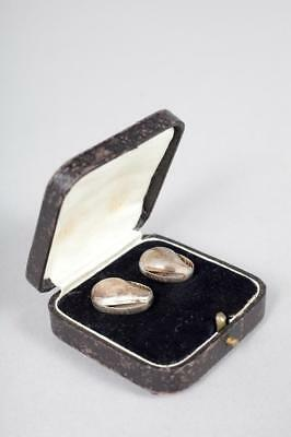 Vintage ~ c1900 ~ Silver(?) Hearing Aids in Box