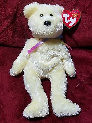 Ty Beanie Babies 2001 2002 SHERBET Yellow Lemon Bear MWMT