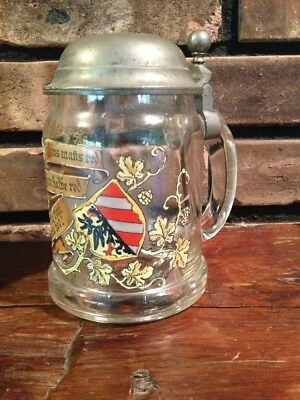 Antique German Stein Nurnberg Henkersteg HANGMANS BRIDGE Blown Enameled
