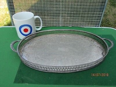 SILVER PLATED VINERS SHEFFIELD GALLERY TRAY CHASED SMALL SIZE 99p L@@K