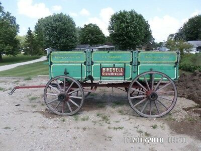 1800's Vintage Wagon made by Studebaker in South Bend Indiana sold by Birdsell