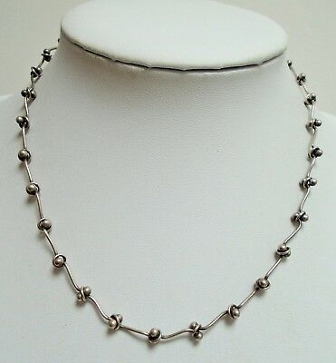 Good quality vintage sterling silver necklace