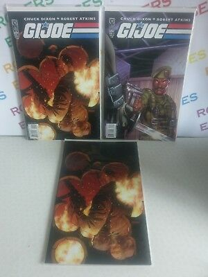 IDW G.I. Joe Comic Books Issue 5 Set All 3 Variant Covers A, B & R1 Carded/Mint
